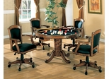 Three-in-One Game Table and Chair Set in Oak - Coaster