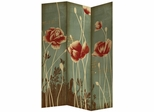 Three Panel Gold Foil Folding Screen - 960580
