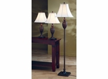Traditional 3PC Lamp Set in Dark Brown - 901146