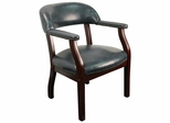 Traditional Captain's Chair with Navy Vinyl - B-Z105-NAVY-GG