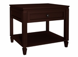 Traditional End Table in Wenge - FT27TC