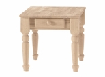 Traditional End Table with Drawer - BJ7TE