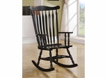 Traditional Wood Rocker in Black Finish - 600185
