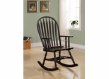 Traditional Wood Rocker in Cappuccino Finish - 600186