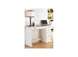 Traditions White Utility Desk with Stainless Steel Top - Home Styles - HS-5002-792