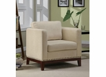 Transitional Accent Chair with Track Arms & Nail Head Trim - 900172