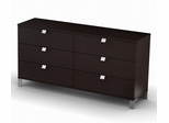 Triple Dresser in Chocolate - South Shore Furniture - 3259010