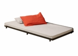 Trundle Bed - Twin Size Roll-Out Trundle Bed Frame in Black - BT40TBBL