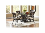 Turks Isle 5 Piece Dining Room Set Black / Brown Cane - Largo - LARGO-WG-D9772-30B-SET