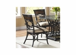 Turks Isle Side Chair - Set of 2 Black / Brown Cane - Largo - LARGO-ST-D9772-41