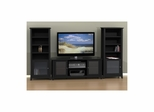 "Tuxedo 58"" TV Stand & 2 Curio Cabinets - Nexera Furniture"