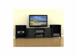 "Tuxedo 58"" TV Stand & 2 Stereo Cabinets - Nexera Furniture"