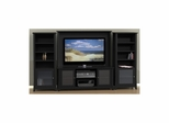 "Tuxedo 58"" TV Stand with 2 Curio Cabinets & Wall Panel - Nexera Furniture"