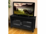 TV Stand - 44 Inch Columbus Wood TV Stand in Black - W44CFDBL