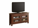 TV Stand - 44 Inch Corner Wood TV Console in Traditional Brown - WQ44CCRTB