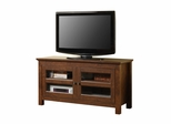 TV Stand - 44 Inch Full Door Wood TV Console in Traditional Brown - WQ44CFDTB