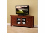 TV Stand - 52 Inch TV Stand with 4 Doors in Brown - W52C4DOWB