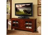 TV Stand - 52 Inch TV Stand with Drawers in Brown - W52C2DWWB