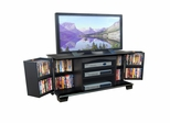 TV Stand - 60 Inch Jamestown Wood TV Stand in Black - W60C73BL