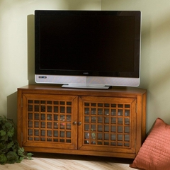 TV Stand - Carson Walnut Corner Media Stand - Holly and Martin