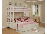 Twin/Full Size Bunk Bed with Trundle - May - Powell Furniture - 270-037-BBED-4