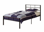 Twin Size Bed - Twin Size Metal Bed Frame in Black - BT40BL
