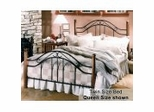 Twin Size Bed - Winsloh Twin Size Metal Bed with Wood Posts