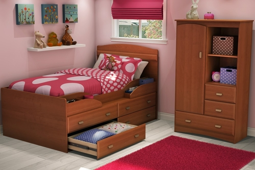 Twin Size Kids Bedroom Furniture Set 71 in Morgan Cherry - Imagine - South Shore Furniture - 3576-BSET-71