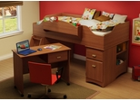 Twin Size Kids Bedroom Furniture Set 73 in Morgan Cherry - Imagine - South Shore Furniture - 3576-BSET-73
