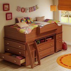 Twin Size Kids Bedroom Furniture Set 74 in Morgan Cherry - Imagine - South Shore Furniture - 3576-BSET-74