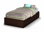 "Twin Size Mates Bed (39"") in Havana - Willow - South Shore Furniture - 3339212"