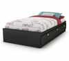 """Twin Size Mates Bed (39"""") in Solid Black - Spark - South Shore Furniture - 3270080"""