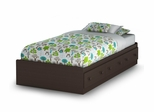 Twin Size Mates Bed in Chocolate - Summer Breeze - South Shore Furniture - 3219080