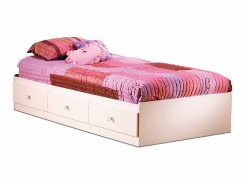 Twin Size Mates Bed in Pure White - South Shore Furniture - 3550080