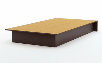 Twin Size Platform Bed in Chocolate - South Shore Furniture - 3159235