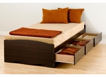 Twin Size Platform Storage Bed - Prepac Furniture - EBT-4100
