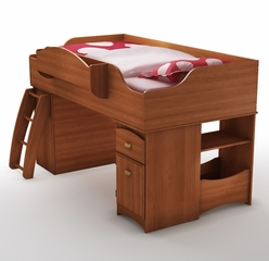Twin Top Loft Bed in Morgan Cherry - Imagine - South Shore Furniture - 3576-LBED