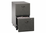 Two-Drawer File (Assembled) - Series A Pewter Collection - Bush Office Furniture - WC14552SU