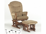 Two Post Multiposition and Recliner Glider with Ottoman Combo - Dutailier - C20-82A