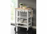 Two Tone Kitchen Cart with Butcher Block Top - 910025