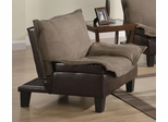 Two Tone Microfiber Chair Bed - 300303