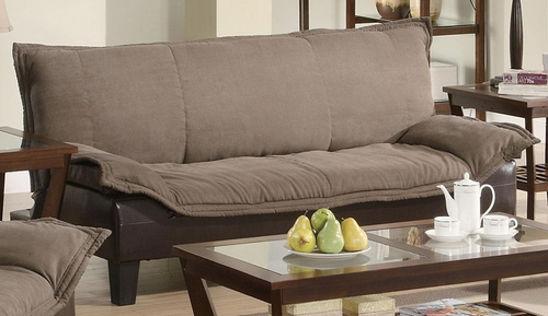 Two Tone Sofa Bed in Brown - 300301