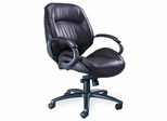 Ultimo Premium Mid-Back Leather Chair in Burgundy - Mayline Office Furniture - ULMGRBUR