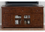 """Urban Lodge Brown 60"""" TV Stand with Glass Doors - 020-9"""