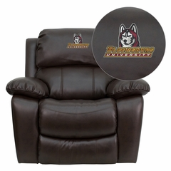 Valdosta State University Blazers Embroidered Brown Leather Rocker Recliner  - MEN-DA3439-91-BRN-41108-EMB-GG