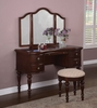 """Vanity, Mirror and Bench - """"Marquis Cherry"""" - Powell Furniture - 508-290"""