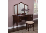 "Vanity, Mirror and Bench - ""Marquis Cherry"" - Powell Furniture - 508-290"