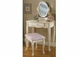 Vanity, Mirror and Bench - Off-White - Powell Furniture - 929-290