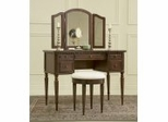 "Vanity, Mirror and Bench - ""Warm Cherry"" - Powell Furniture - 429-290"
