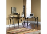 Vector L-Shape Desk Black / Black - Sauder Furniture - 411979